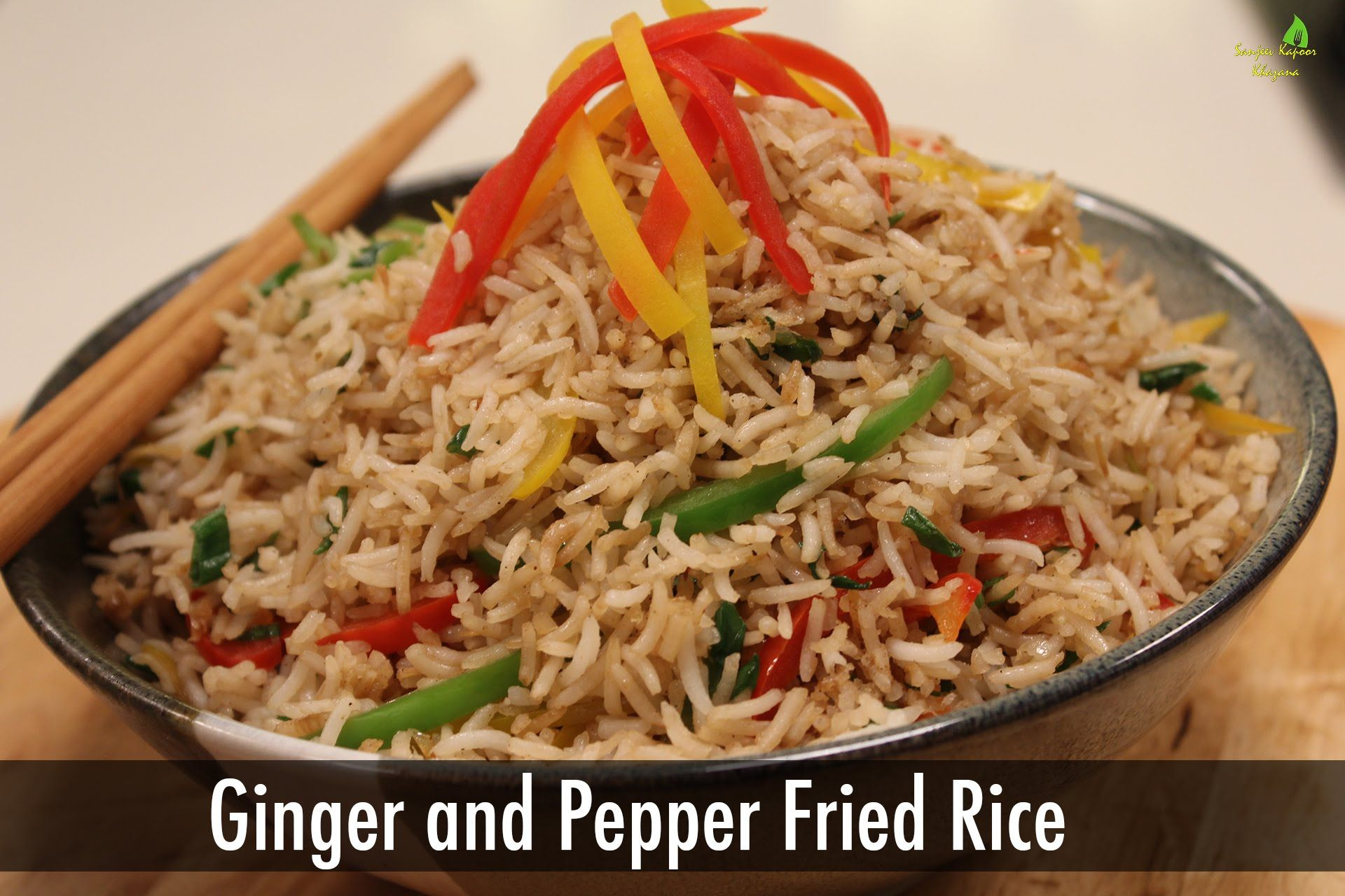 Ginger and pepper fried rice chinese cuisine sanjeev kapoor food ginger and pepper fried rice chinese cuisine sanjeev kapoor khazana forumfinder Choice Image