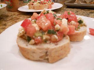 Throw It In A Dish and Bake It!: Feta Bruschetta