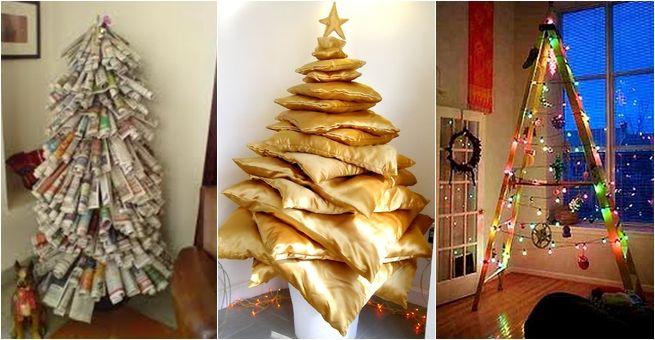 ideas para hacer rboles de navidad con materiales caseros - Arbol De Navidad Casero