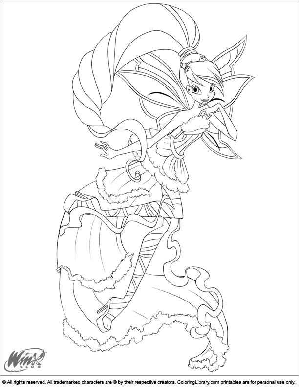 Winx Club coloring picture Coloring Pages for kids Pinterest