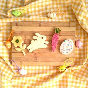 Leuke broodjes voor de kinderen bij je Paasontbijt, Paaslunch of Paasbrunch. Recept op http://dekinderkookshop.nl/recepten-voor-kinderen/paasbroodjes/