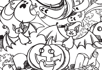 Spooky Coloring Pages And Other Fun Filled Halloween Ideas For Kids Pumpkin Ghost Bat