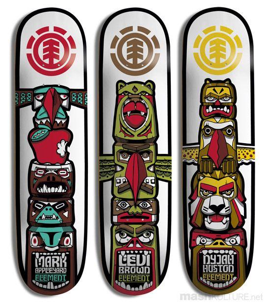 ELEMENT U201cTotem Series Decksu201d. Longboard DesignSkateboard ...