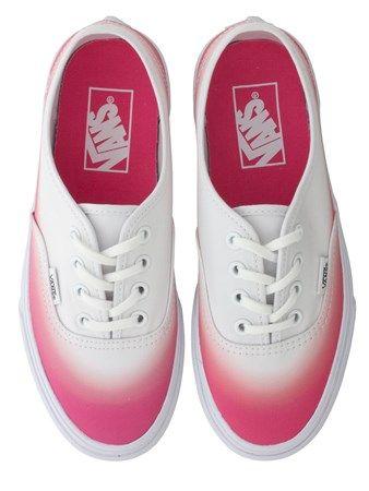 Buy Vans Pink   White Ombre Trainers  f54d47e11d