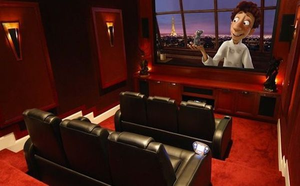 Nice Amazing And Cool Diy Home Theater Design Ideas With Red Small Home