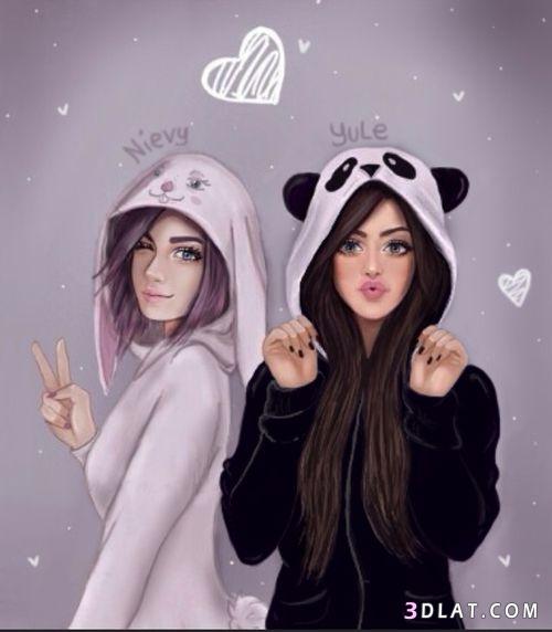 صور بنات مرسومة حديثة 2020 اروع صور رسومات البنات رسومات بنات كيوت Best Friend Drawings Girly M Drawings Of Friends
