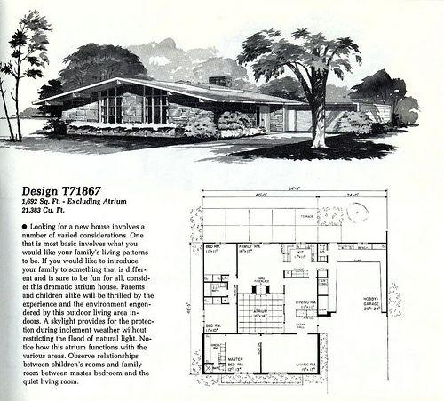Home Planners Design T71867 | MidCentArc | Flickr