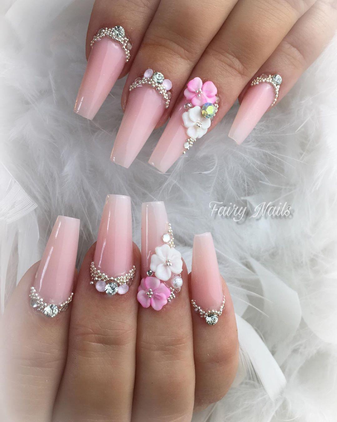 Meine Liebste Katja Ich Bin An Deinem Wunderschonsten Tag In Gedanken Ganz Fest Bei Dir Nbsp Nbsp Nails Coffin Nails Designs Nail Designs Bridal Nail Art