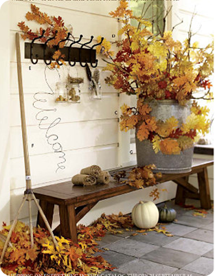 Decor On A Dime Fall Mantel Pottery Barn Style With Images