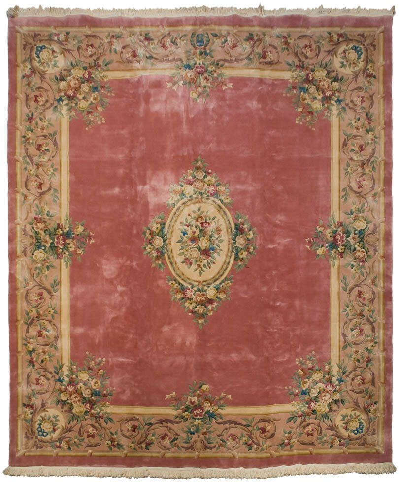 Rra 12x14 Pink Rose Aubusson Rug Carpet Floral 29728 Frenchaubusson Rugs On Carpet Floral Carpet Carpets Area Rugs