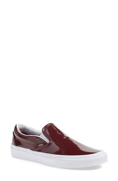 065b9cf75d Vans  Classic  Slip-On Sneaker in Burgundy Patent Leather