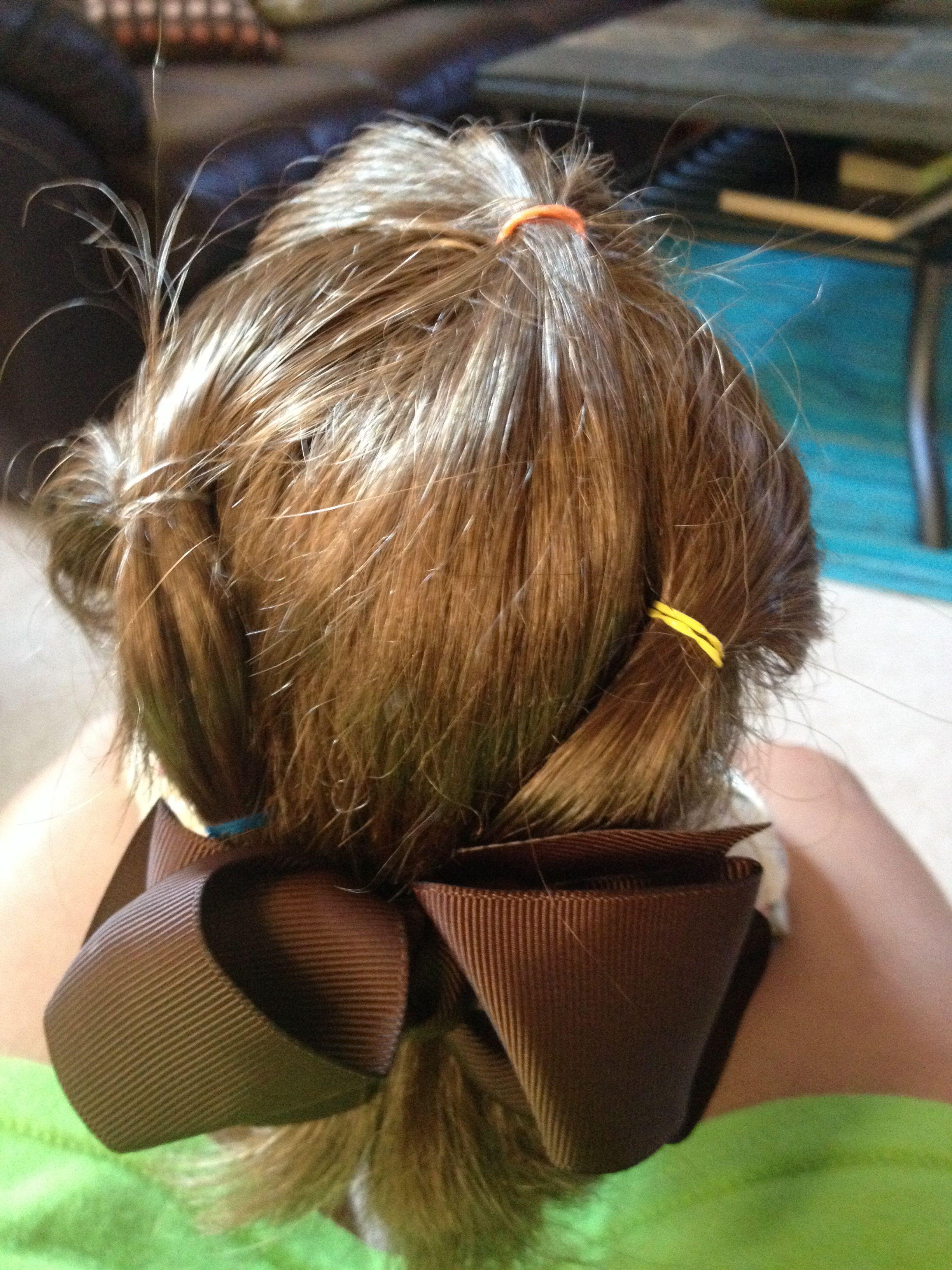 Really easy America girl doll hair style | Hair styles, Doll hair, Hair