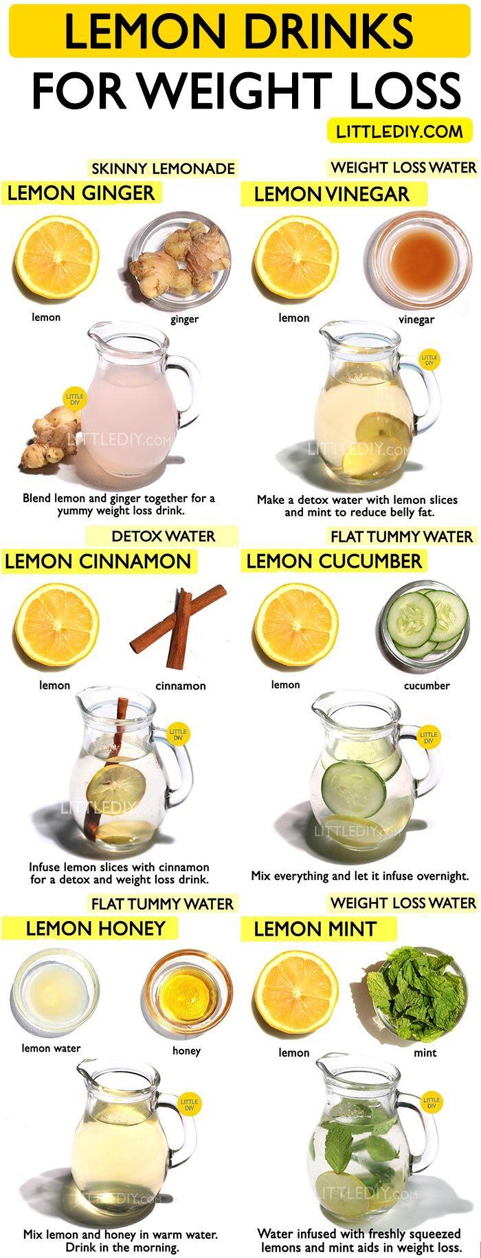 LEMON DRINKS RECIPE for weight loss #weightloss