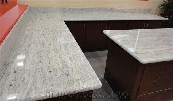 River White Granite Prefab Kitchen Countertops From China Stonecontact Com River White Granite Prefab Granite Prefab Countertops