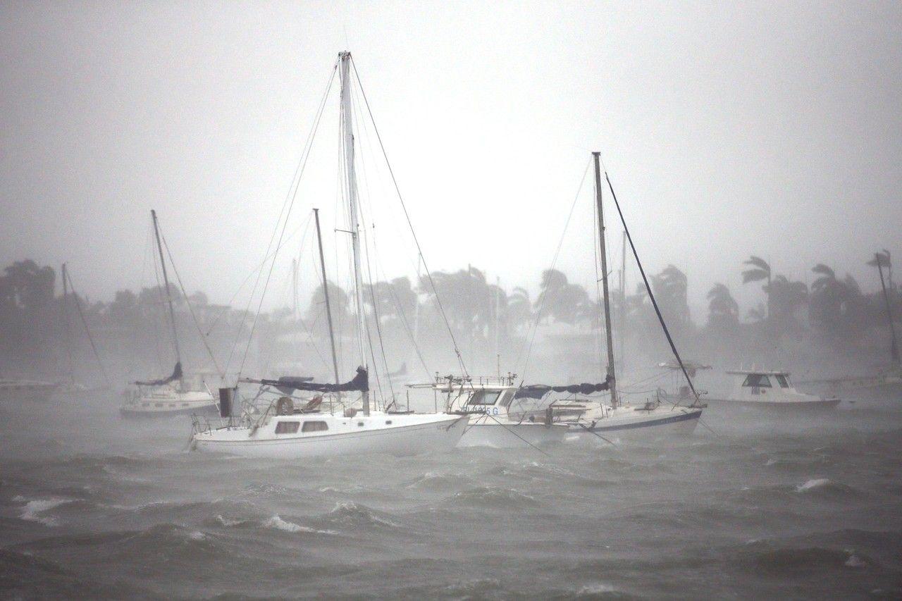 Boats Are Seen At A Marina In South Beach On Sunday Carlos Barria Reuters Photos Hurricane Irma Hits Florida Gulf Coast Florida South Beach Florida