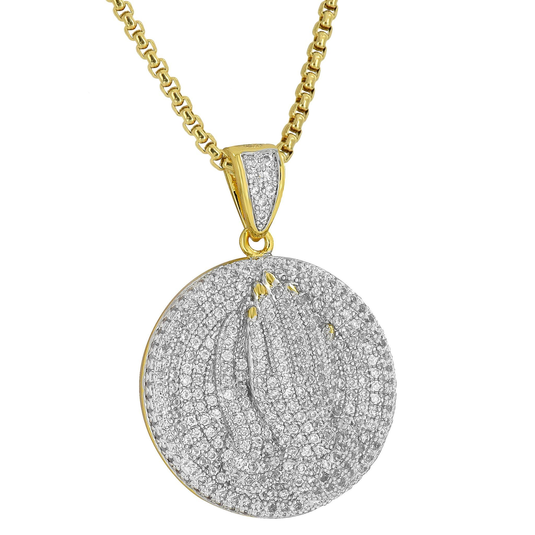 view sterling diamond round lyst rene jewelry necklace escobar fullscreen pendant small silver