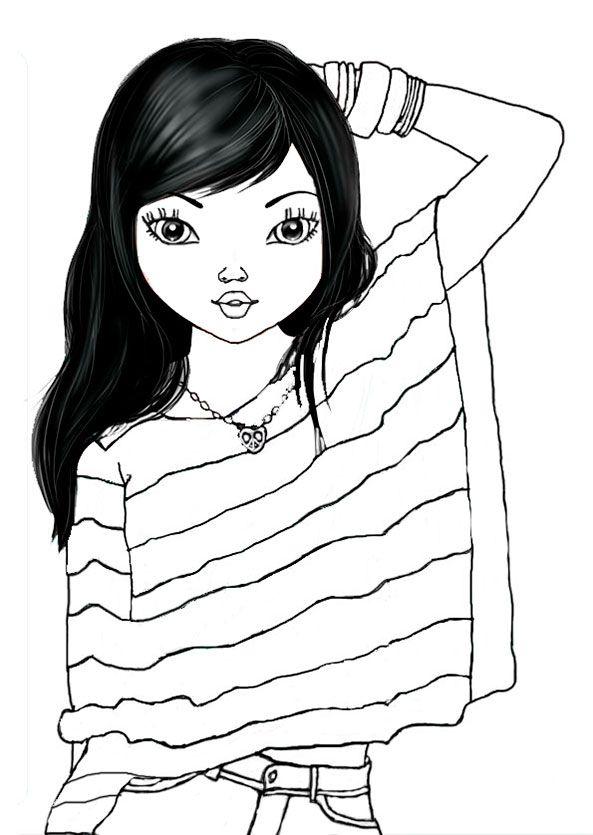 Ausmalbilder Topmodel Liv Topmodel Amber Tilibra Pinterest