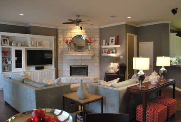 Living Room With Fireplace Layout image result for living room corner fireplace | decorate it