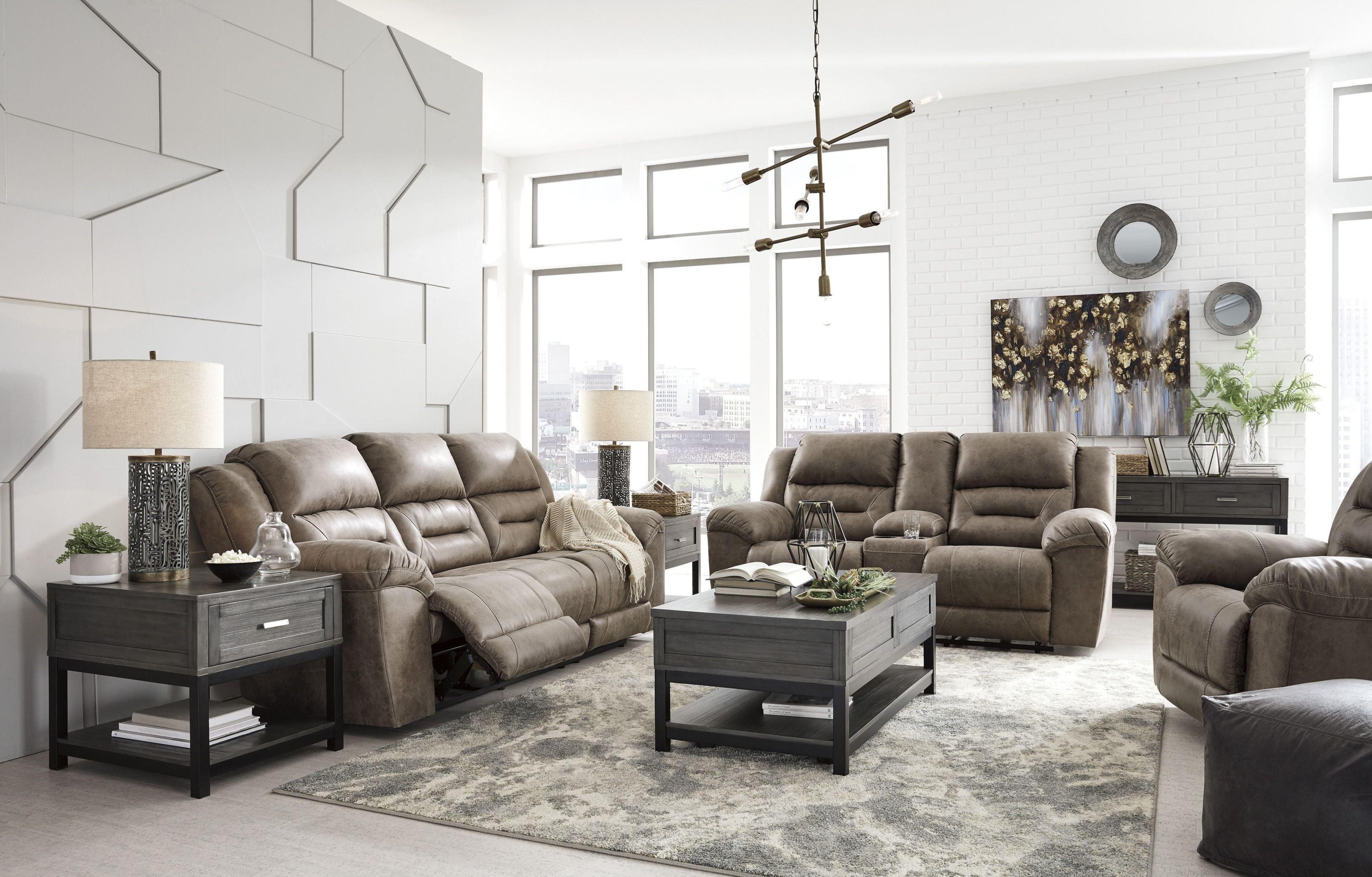 Stoneland Fossil Reclining Living Room Set In 2020 Loveseat