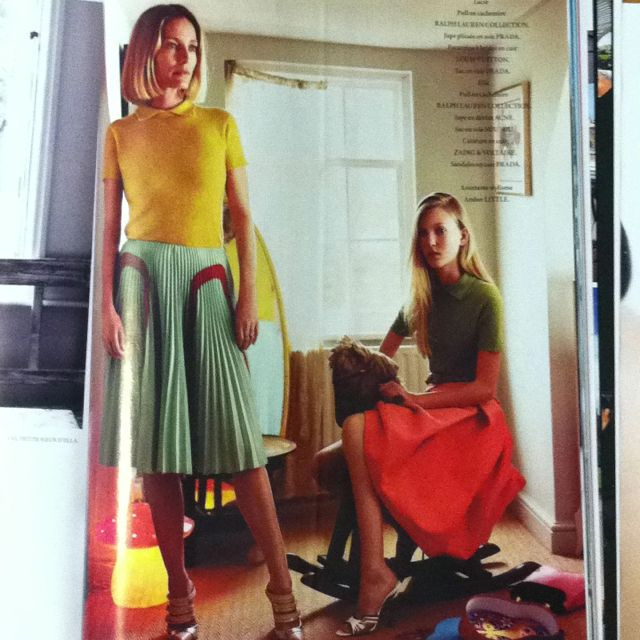 Sweater tops and full skirts