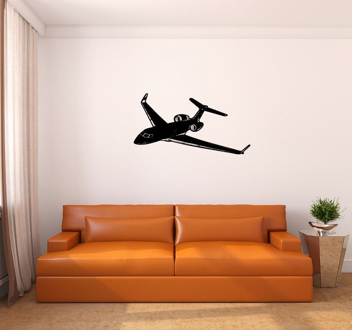 Gulfstream Airplane Silhouette Vinyl Wall Decal Sticker Vinyls - How to make vinyl wall decals with silhouette