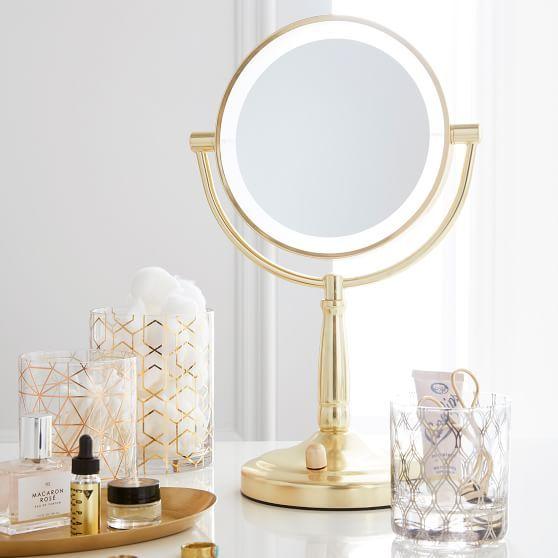 Gold Light Up Vanity Mirror, Makeup Mirror Light Up