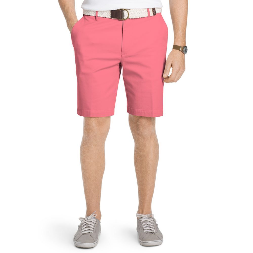 Men's IZOD Advantage Classic-Fit Stretch Performance Shorts, Size: 38, Pink Other