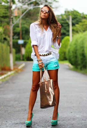 3ee35f0f4969a Shorts degradê super na moda verão