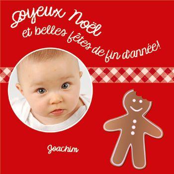 Carte de voeux   Noël   biscôme