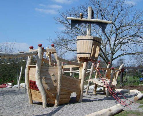 station de jeu en bois pour aire de jeux spielart le bateau gundelfingen l18 pro urba. Black Bedroom Furniture Sets. Home Design Ideas