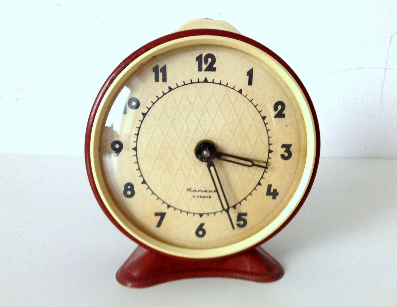 Soviet clock russian clock vintage clock mechanical clock jantar clock amipublicfo Images