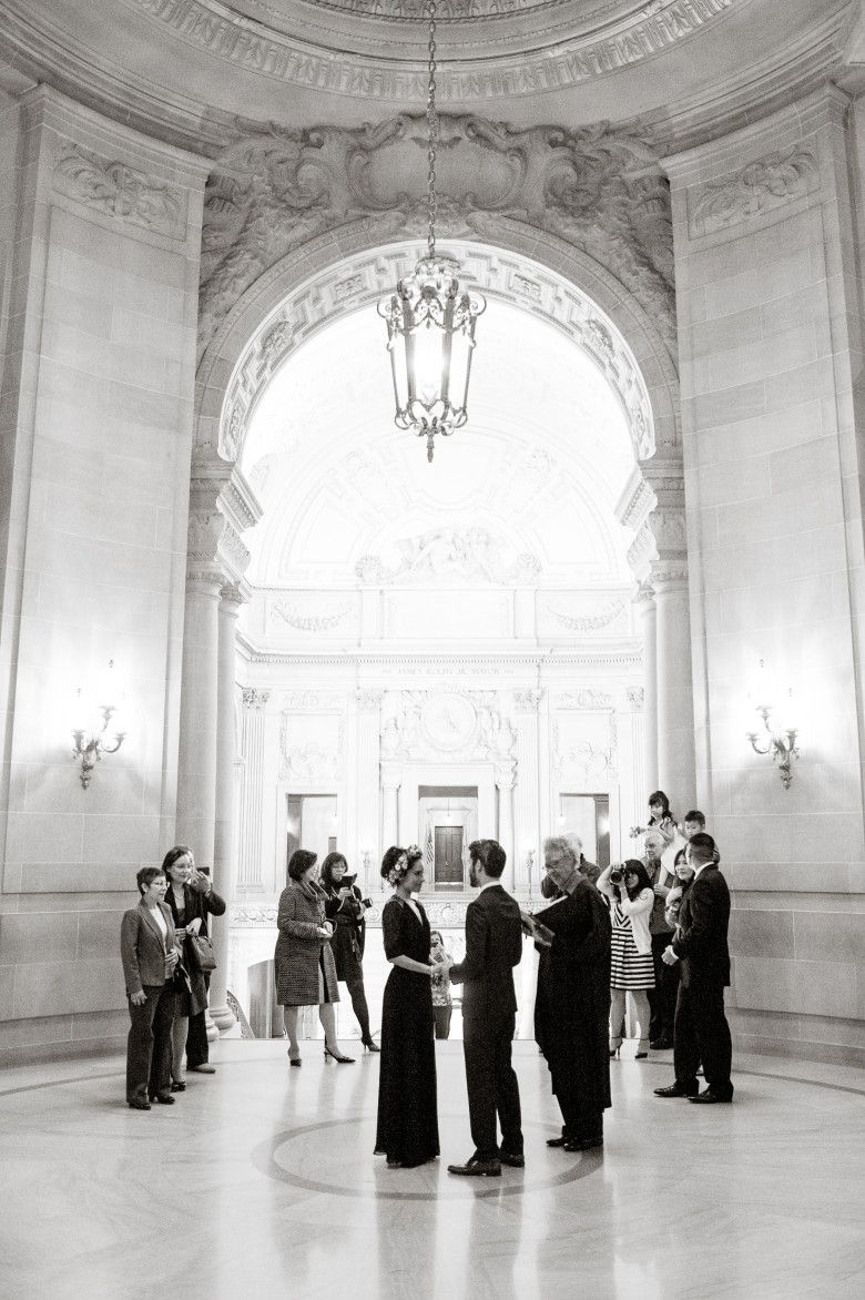 An intimate san francisco city hall wedding san