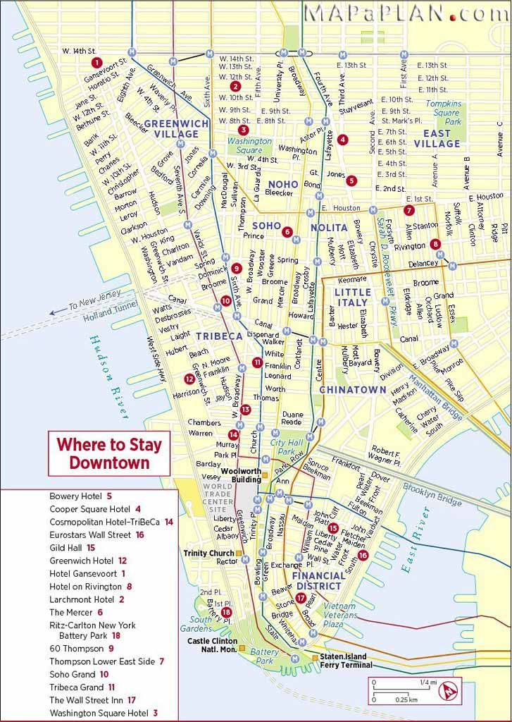 Map Of New York Hotels Manhattan.Maps Of New York Top Tourist Attractions Free Printable Mapaplan Com Map Of New York Tourist Attraction Manhattan Hotels