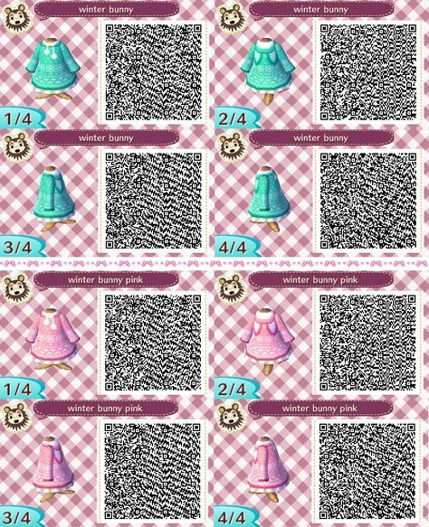 Image of: Acnl Qr Winter Bunny Animal Games New Leaf Animal Crossing Qr Winter Sweaters Bunny Rebloggy Winter Bunny Qr Codes Pinterest Animal Crossing Animal