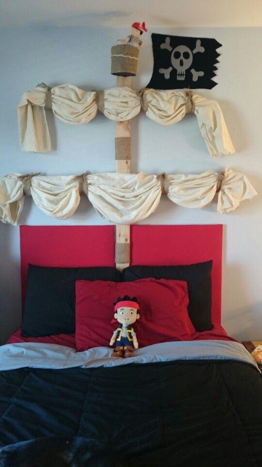 Pirate Ship Mast Headboard Diy Pirate Bedroom Decor Pirate Kids Room Kids Bedroom Diy