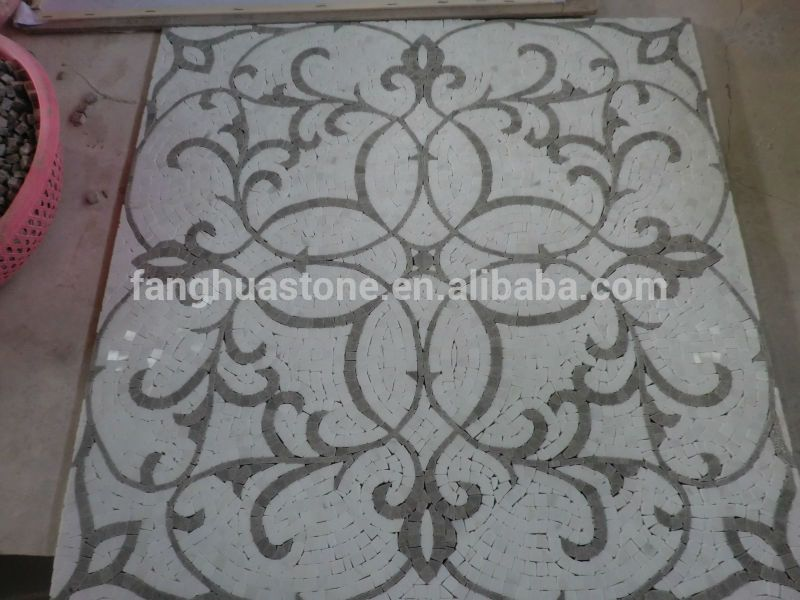 Decorative Tile Medallions Foyer Geometry Tile Round Mosaic Medallion Floor Patterns  Buy