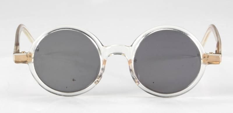 LEON the proessional movie sunglasses round sun glasses Black lens Eyewear Metal