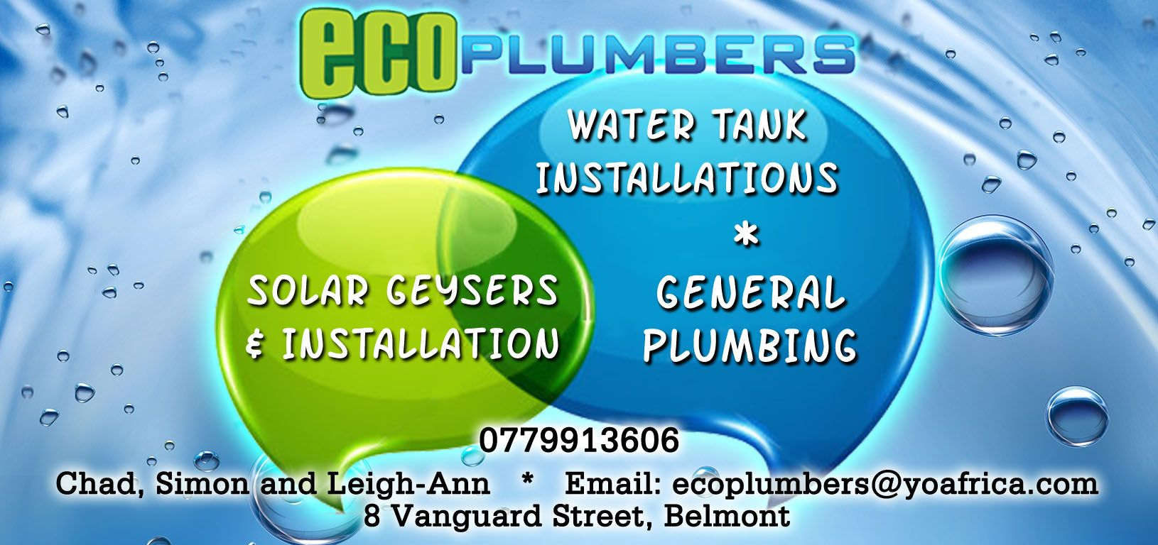 Call ECO-Plumbers for Water Tank installations and General ...