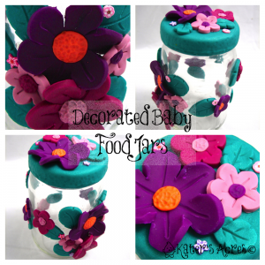 Decorated Baby Food Jar By Katersacres Polymer Clay