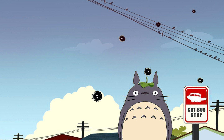 Cat Bus Stop Totoro My Neighbor Totoro Cats Bus