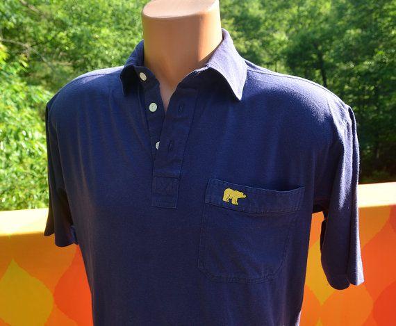 Vintage 80s Golf Shirt Jack Nicklaus Golden Bear Polo Navy Blue Medium 70s Golf Shirts Vintage Polo Jack Nicklaus