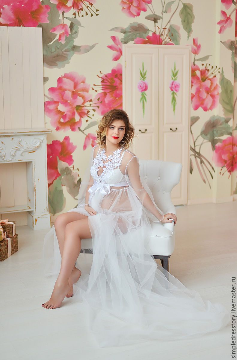 Будуарное платье (пеньюар) для беременных – купить в интернет-магазине на Ярмарке  Мастеров с доставкой 3c5c20afae799