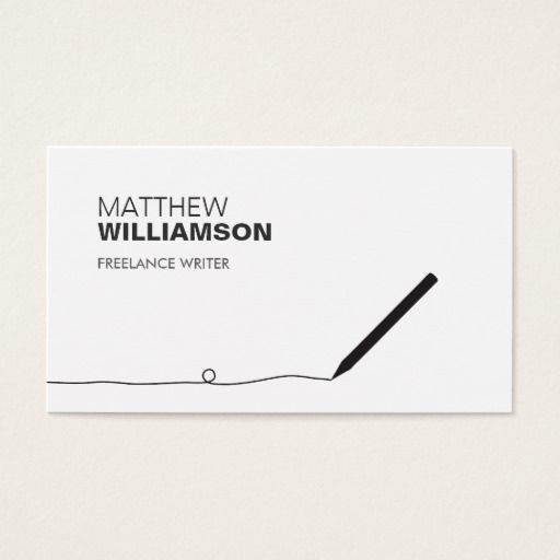Pencil Business Card For Authors Writers Zazzle Com Freelance Business Card Modern Business Cards Business Cards