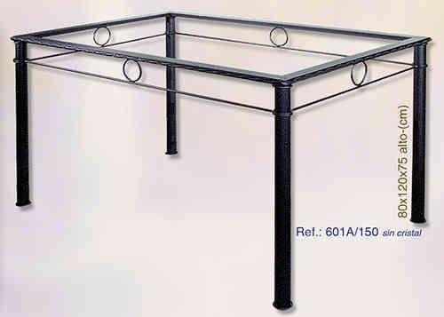 Mesa de forja de 120x80cm por 181€ en nuestra web www.rustiluz.com  #mesa…