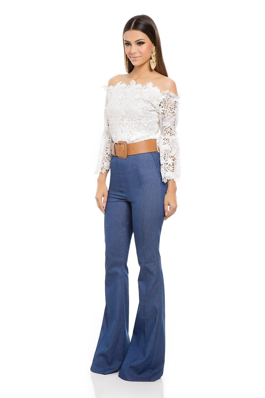 Calç a Flare Cintura Alta Bolso Jeans - roupas-calcas-iorane-f-calca-flare-cintura-alta-bolso-jeans  Iorane 0b61345b36c1d