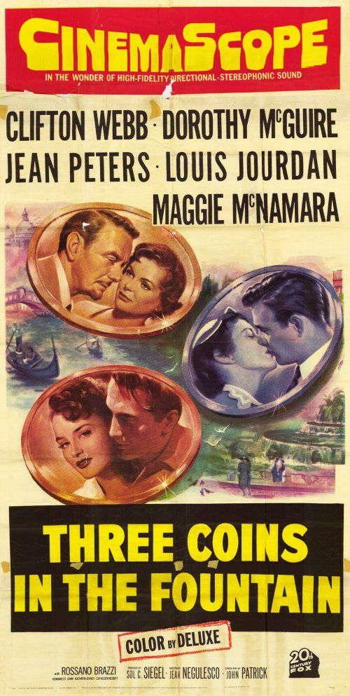 Image result for three coins in the fountain 1954 poster
