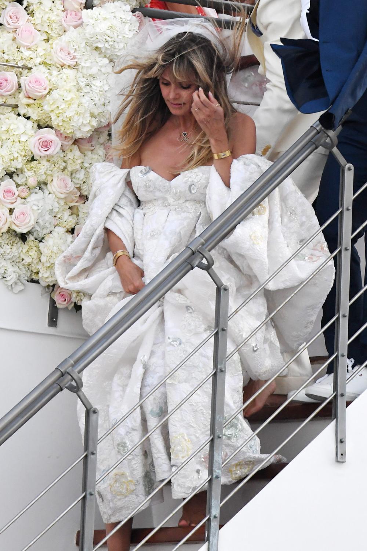 heidi klum wedding dress capri - Google Search  Heidi klum