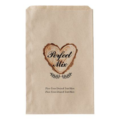 Rustic Perfect Mix Wedding Favor Bag | Zazzle.com