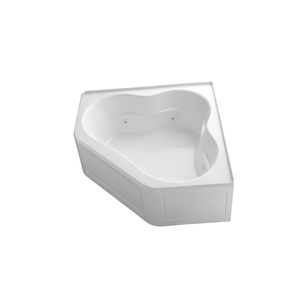 KOHLER Tercet 5 ft. Acrylic Center Drain Neo-Angle Straight Corner ...