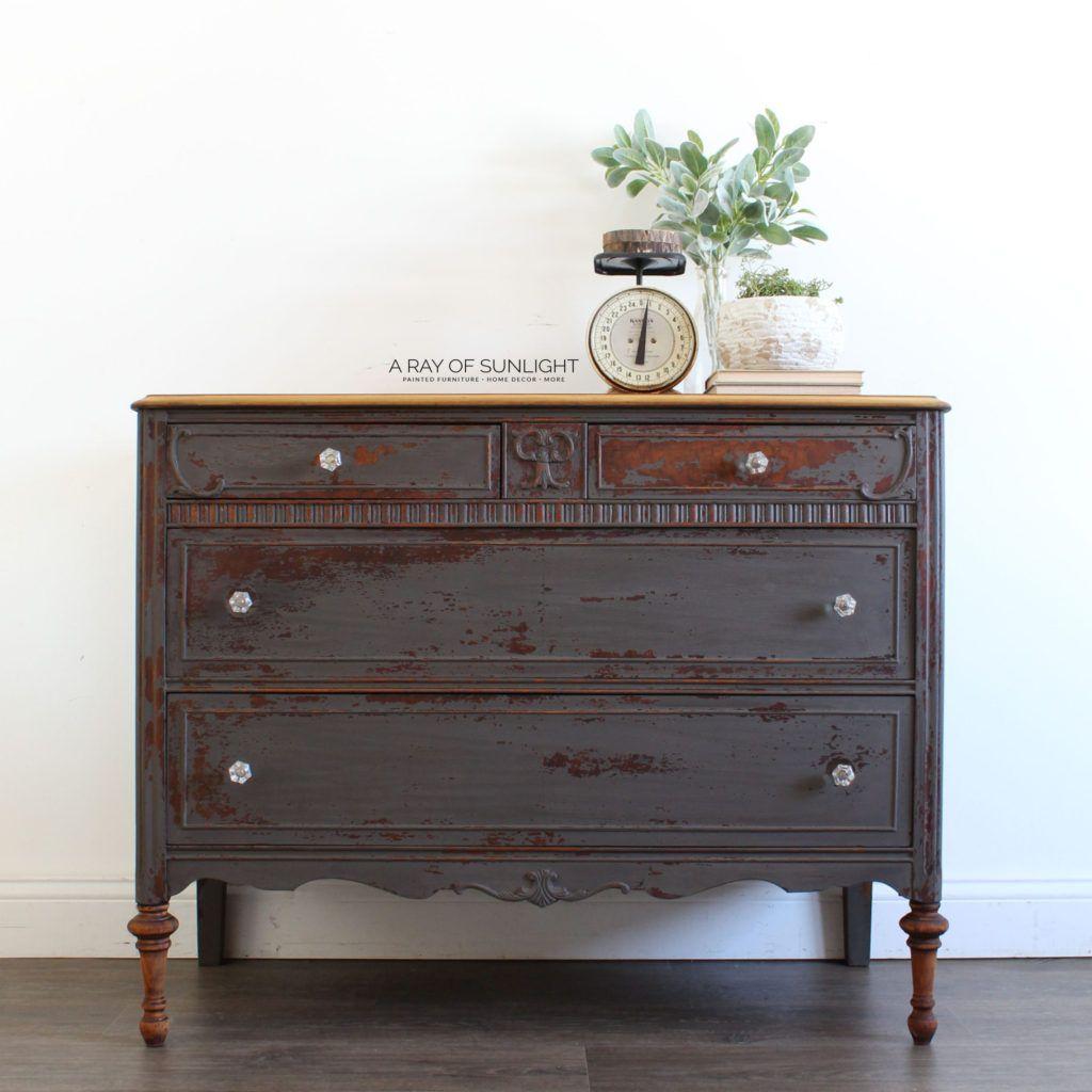 The Chippy Gray Milk Paint Dresser